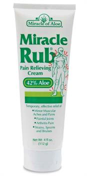 Botanic Choice - Miracle Rub  Pain Relieving Cream with Aloe - 4 oz