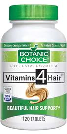 Botanic Choice - Vitamins 4 Hair  - 120 tablets