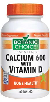 Botanic Choice - Calcium 600 with Vitamin D - 60 tablets