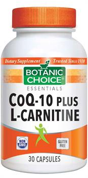 CoQ10 Plus L-Carnitine Supplement – 30 Capsules