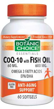 Botanic Choice - CoQ-10 with Fish Oils - 60 softgels