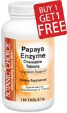 Chewable Papaya Enzyme Tablets - Buy 1 Bottle, Get 1 Free