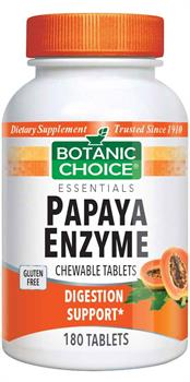 Botanic Choice - Chewable Papaya Enzyme Tablets 49 mg. - 180 tablets