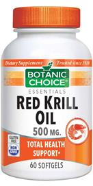 Botanic Choice - Red Krill Oil 500 mg. - 60 softgels