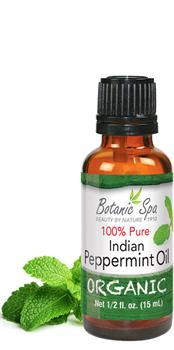 Botanic Choice - Organic Peppermint Oil - 1/2 oz
