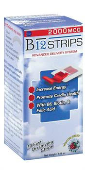 Essential Source <br> B12 Strips 2000 mcg