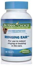 Homeopathic Ringing Ear Remedy eliminates tinnitus