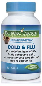 Botanic Choice - Homeopathic Cold  & Flu Formula - 90 tablets