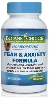 Botanic Choice - Homeopathic Fear & Anxiety Formula - 90 tablets