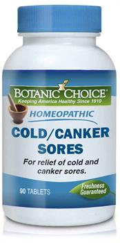 Botanic Choice - Homeopathic Cold/Canker Sores Formula - 90 tablets