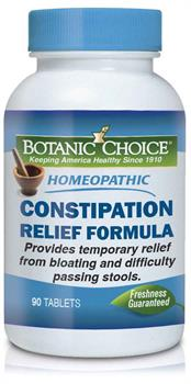 Botanic Choice - Homeopathic Constipation Relief Formula - 90 tablets