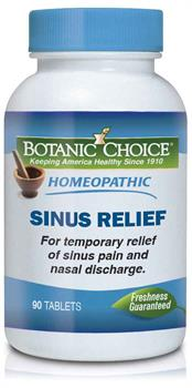 Botanic Choice - Homeopathic Sinus Relief Formula - 90 tablets