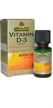 Nature's Answer - Vitamin D-3 Drops 4000 IU - .5 oz