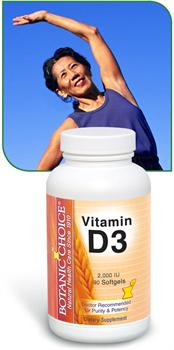 Vitamin D3 Promotes Women's health including calcium absorbtion and breast support