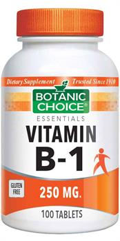 Botanic Choice - Vitamin B-1 (Thiamin) 250 mg. - 100 tablets