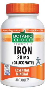 Iron 28 mg (gluconate) - 30 tablets