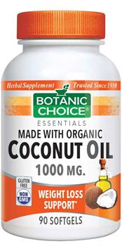 Botanic Choice - Coconut Oil,  Organic  1000 mg. - 90 Softgels